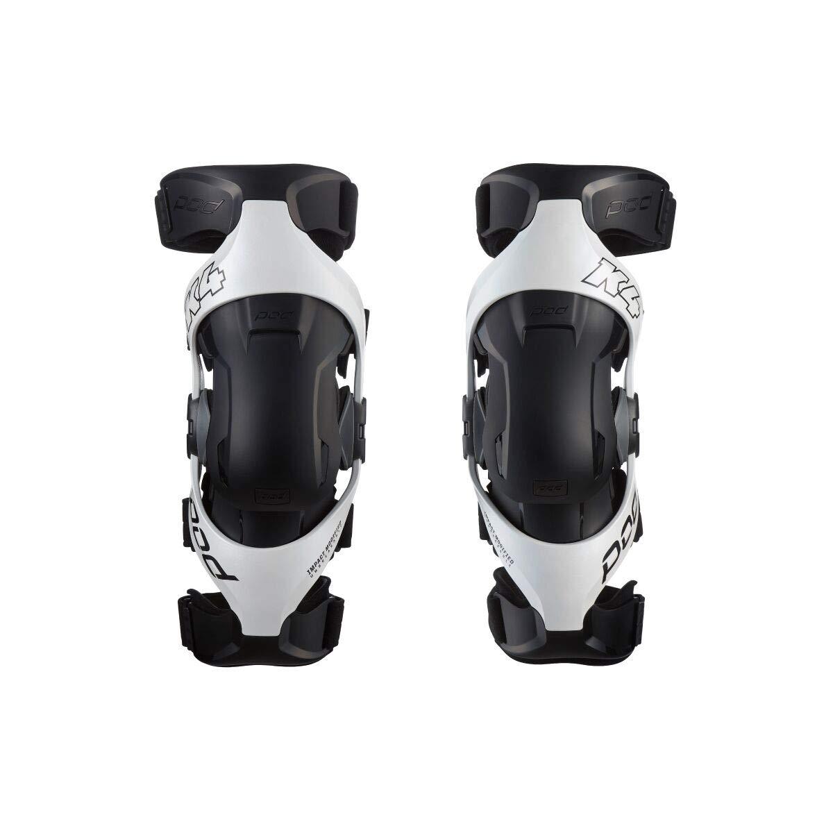 Pod K4 2.0 Knee Braces-White/Black-M/L