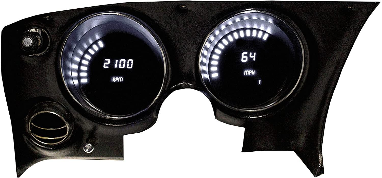 Intellitronix Corp. 1968-1977 Corvette LED Digital Dash Replacement Panel (White)