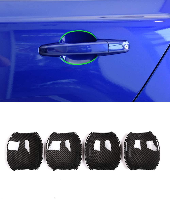 Carbon Fiber Car Door Handle Bowl Cover Trim 4pcs For Jaguar XE XF Car Styling