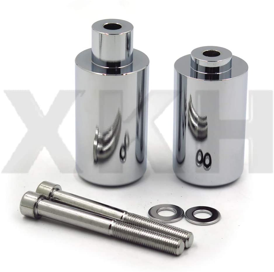 XKH - Replacement of Motorcycle No Cut Frame Slider Crash Protector For 2003 2004 Suzuki GSXR 1000 GSX R Chromed by XKH
