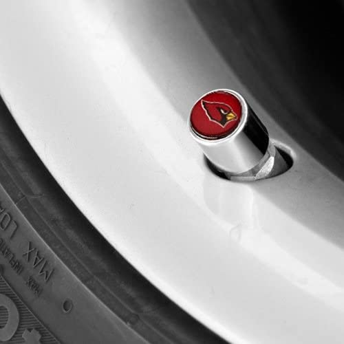 Arizona Cardinals Chrome Valve Stem Caps