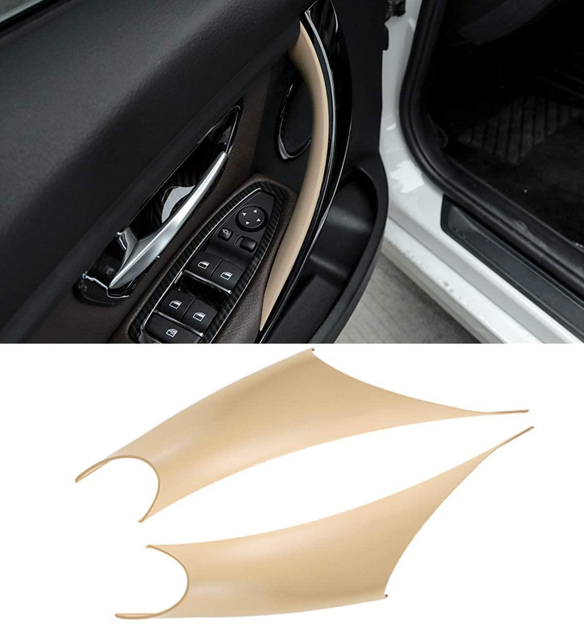 Jaronx 2PCS Door Handle Covers for BMW 3 Series 4 Series Driver Side & Passenger Side Door Pull Handle Covers (for:BMW 320i,328i,330i,335i F30/F31 and BMW 428i, 435i F32/F36)(Beige)