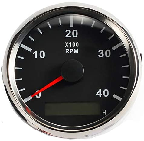 ELING Universal Tachometer RPM REV Counter with Hour Meter 4000RPM 85mm 9-32V with Backlight