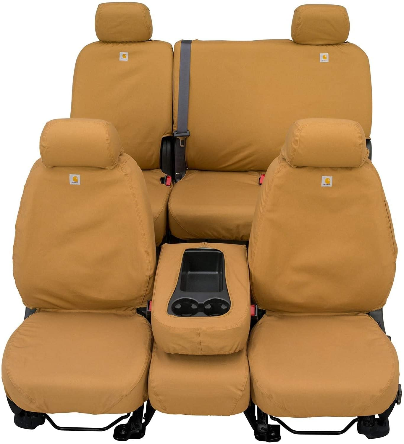 Covercraft Carhartt SeatSaver Front Row Custom Fit Seat Cover for Select Ram Models - Duck Weave (Brown) (SSC3457CABN)