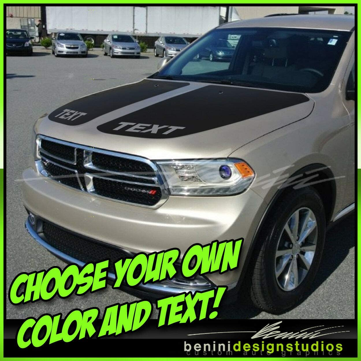 2011 and up Hood Blackout Stripes Graphics 2013 2014 2015 2018#1 Compatible with Durango Dodge (White)