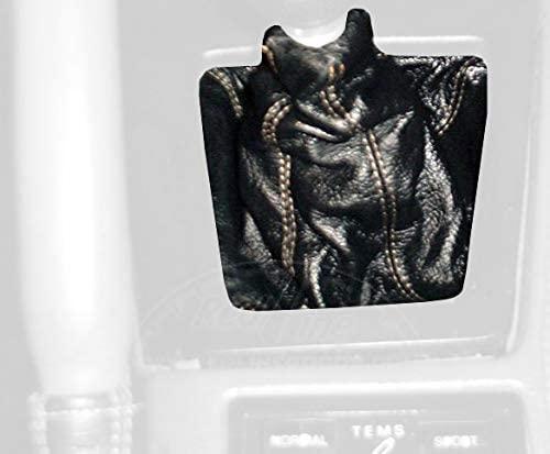 RedlineGoods bota/funda para palanca de cambios Compatible with Toyota Supra 1986-92. Alcantara Negra Costura Plata