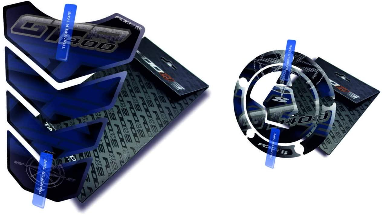 Tankpad and Cappad for KAWASAKI GTR 1400 (Black/Blue)