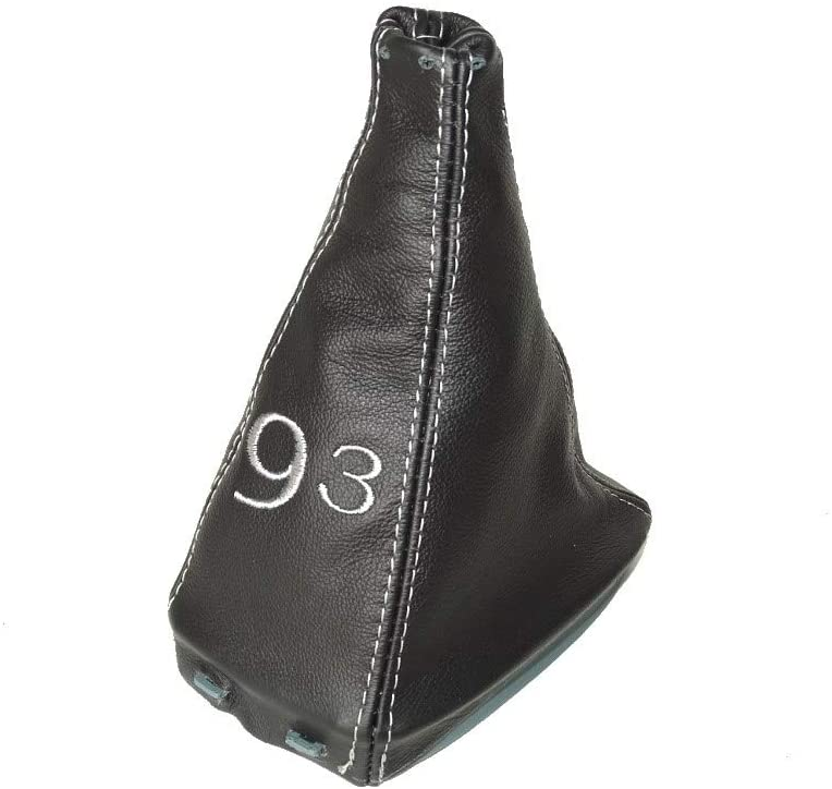 The Tuning Shop Shift Boot with Bottom Plastic Frame Leather Grey Embroidery