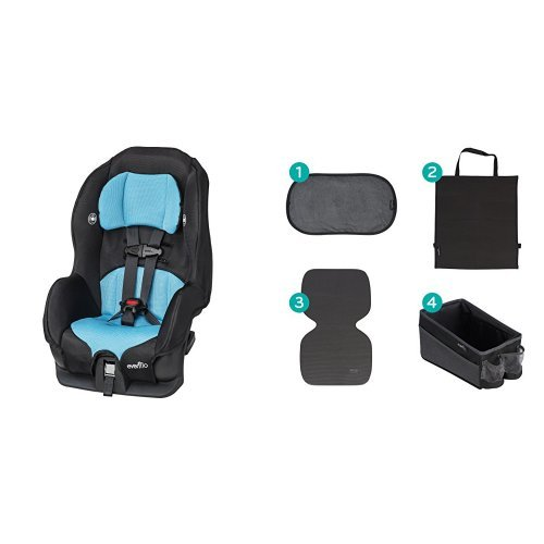 Evenflo Tribute LX Convertible Car Seat - Neptune with Car Seat Accessory Kit