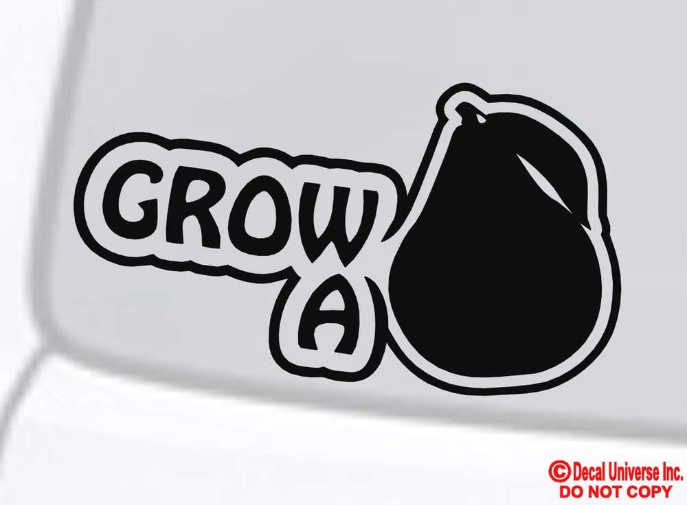 Tamengi Grow A Pair Pear Vinyl Decal Sticker Car Window Wall Bumper JDM Euro Illest Dope