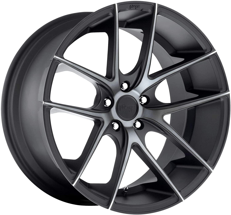Deal on Wheels Niche 1PC Targa Matte Black Double Dark Tint Targa 18x9.5 5x112.00 Matte Black Double Dark Tint (50 mm) Wheel