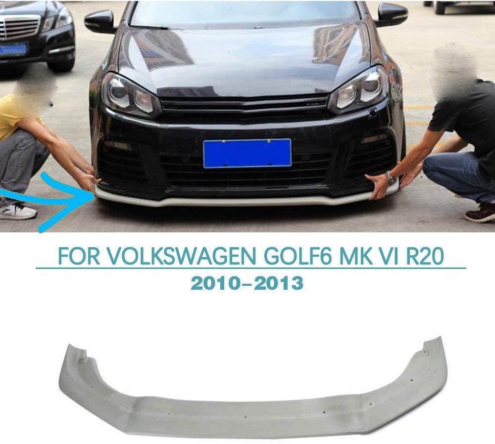 jun-star Front Bumper Lip fits Volkswagen VW Golf 6 2010-2013 Carbon Fiber Front Chin Spoiler (FRP)