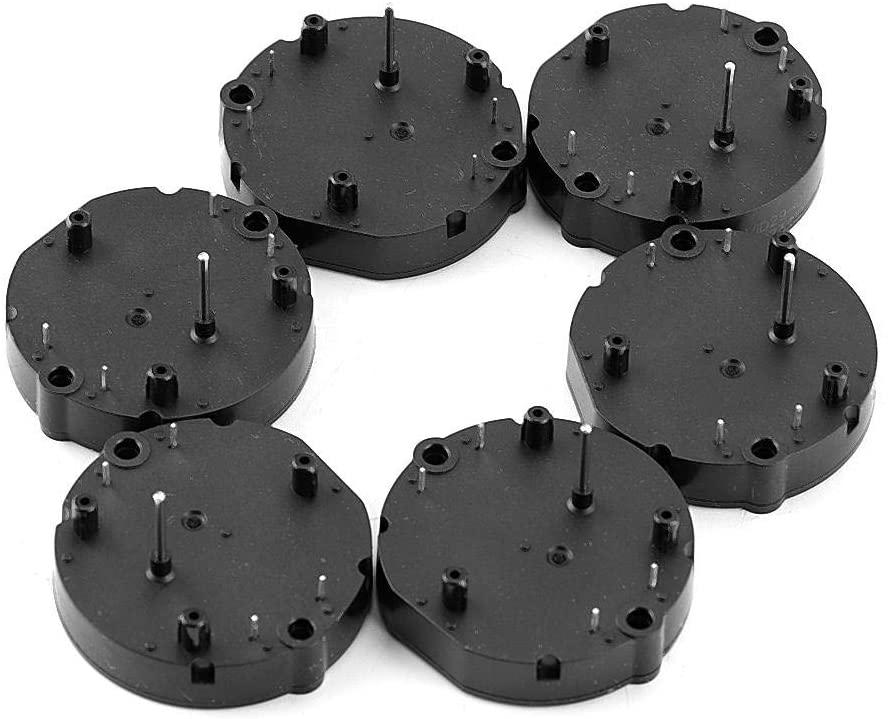 Senyar Gear Stepper Motors,4Pcs Black Electric Stepper Motors Dashboard Instrument Motors for Fan Motors Auto Car