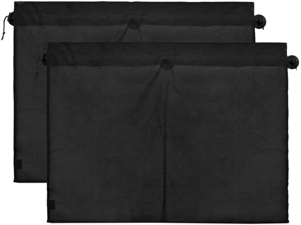 uxcell a17050200ux0608 2 Pcs 70 x 53cm Car Side Window Sunshade Polyester Cloth Curtain UV Protection 2 Pack