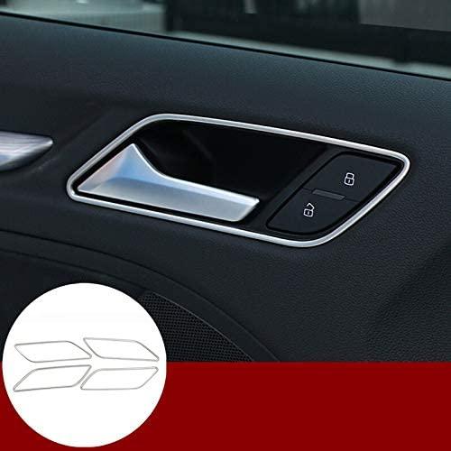 wroadavee Interior Car Door Handle Bowl Cover Trim 4pcs for Audi A3 S3 2014-2018