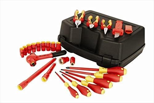 Wiha Tools 31592 0.38 in. Drive Insulated Socket Set - 24 Piece
