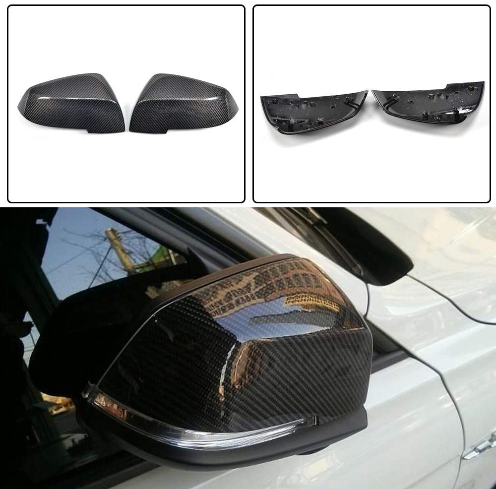 LY-QCYP Car Mirror Covers,fits for BMW 2011up New 3 Series F20 F30 Carbon Fiber Full Replacement Mirror Covers Caps