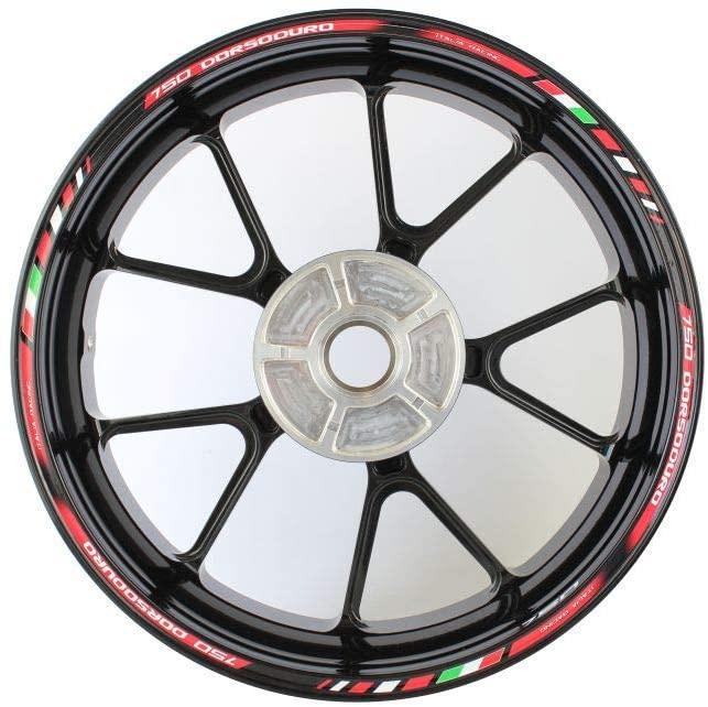Motorcycle wheel rim decals rimstriping strips accessory sticker for Aprilia Dorsoduro 750 (Red)