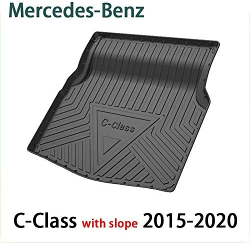 QCHD Car Trunk mat,for Mercedes-Benz A C B E S G ML GLA GLB GLC GLS GLE GLK Class Car Boot mat e300Lglc260c200LA200L Cargo Cover Mat,C-Class 2015-2020