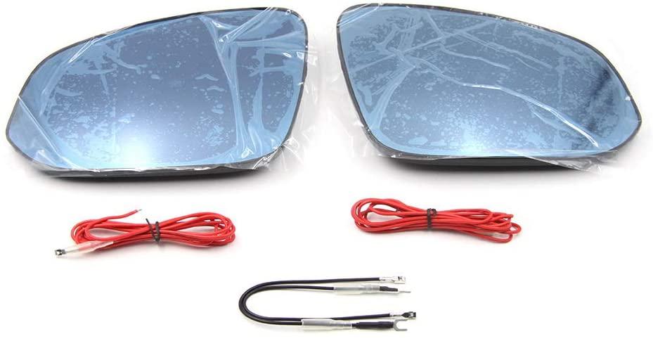 July King Rearview Mirror Lens for Toyota Hilux Revo Vigo Fortuner Alphard RAV4 2016-2020, Anti-glare, Blue Mirror, Turning Signal, Heat Demisting