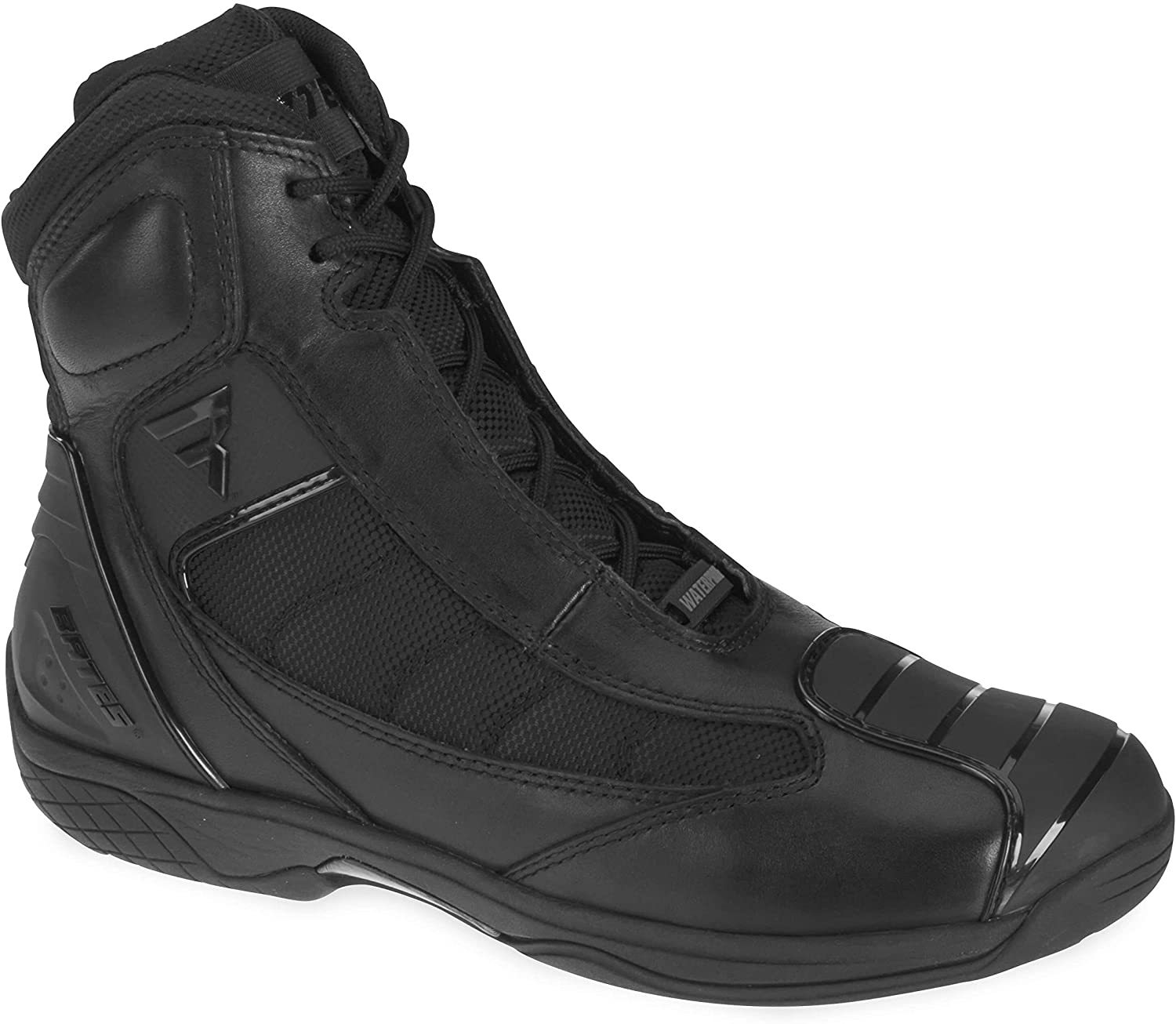 Bates Beltline Performance Men's Motorcycle Boots (Black, Size 10.5)