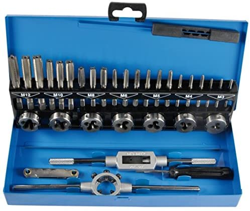 SW-Stahl, M3-M12Tap and Die Set 33Pieces HSS G for Internal and External Thread 82233L