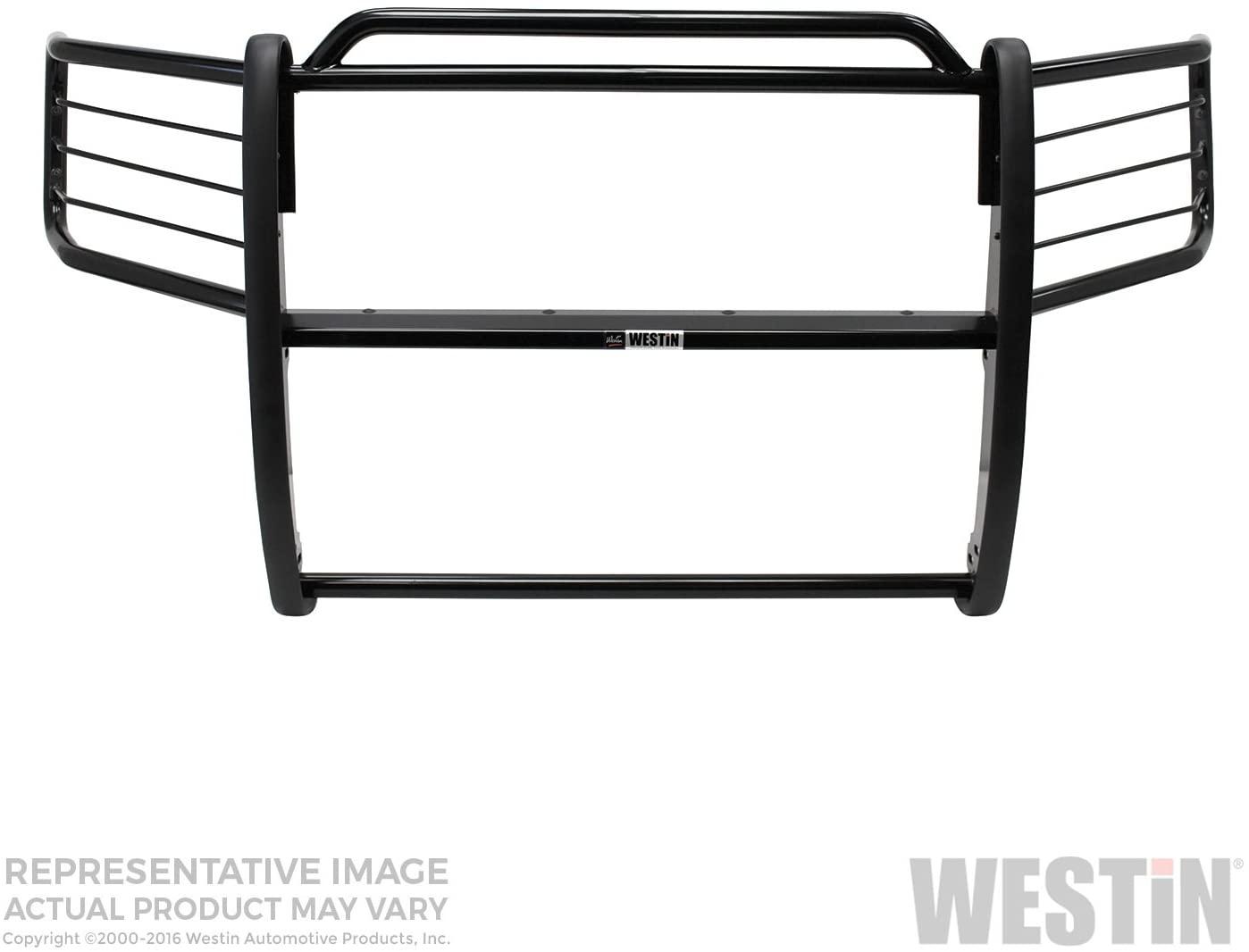 Westin 40-0125 Sportsman Tough Black Powdercoat Finish Steel Grille Guard - 1 Piece