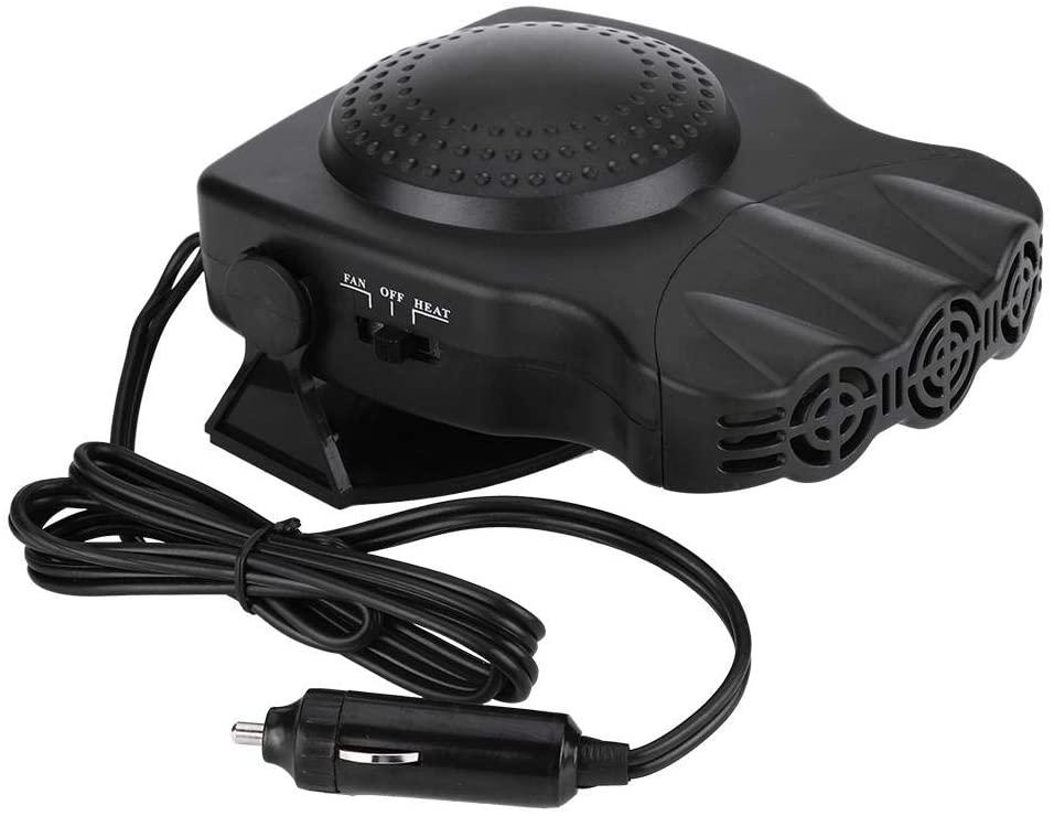Senyar 2 in 1 Car Vehicle Heater Heating Cool Fan,12V 150W ABS Plastic Windscreen Demister Defroster with 2Pcs Screws(Black)