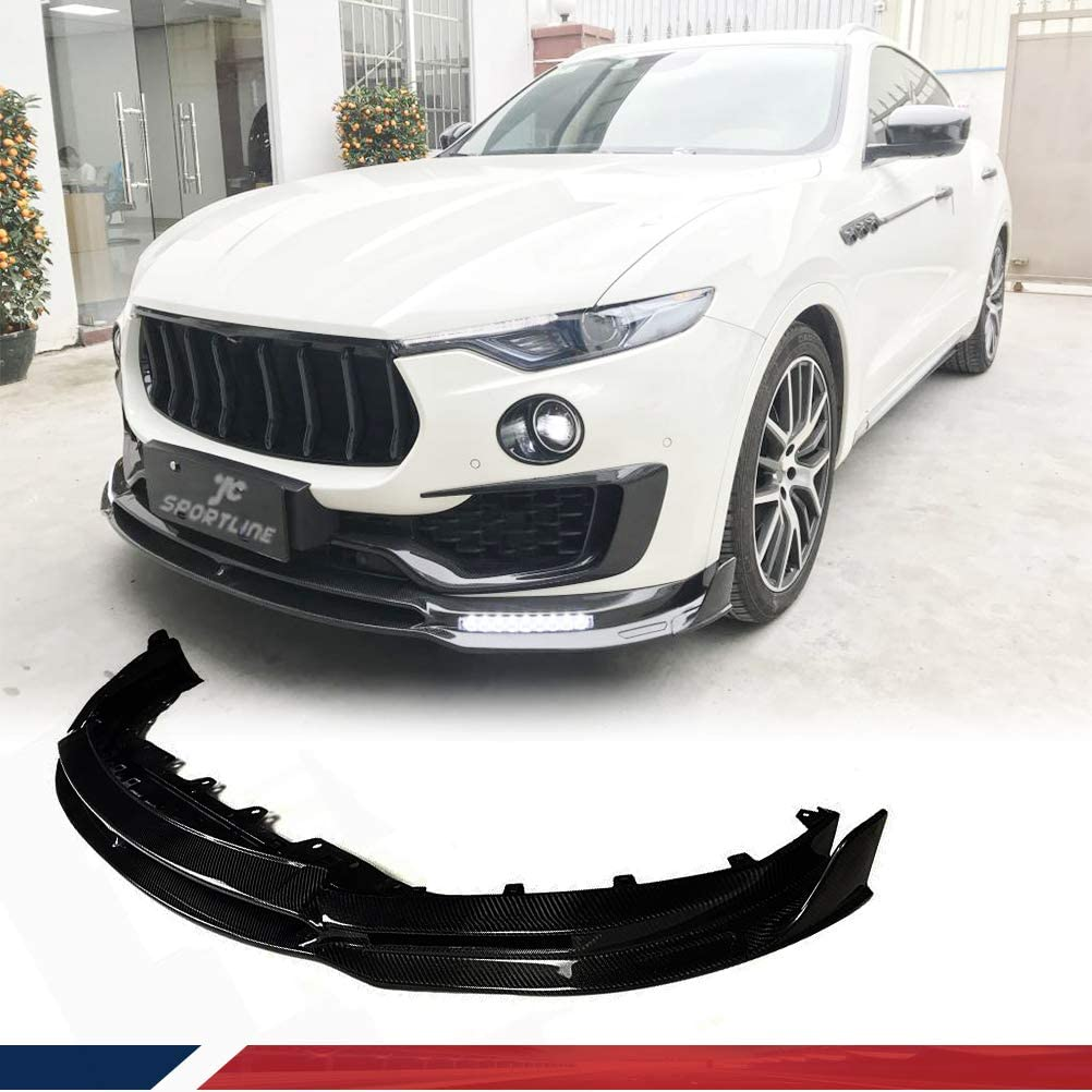 JC SPORTLINE Carbon Fiber Chin Spoiler fits for Maserati Levante 2016-2019 Front Bumper Lip Spoiler Chin Splitter Factory Outlet