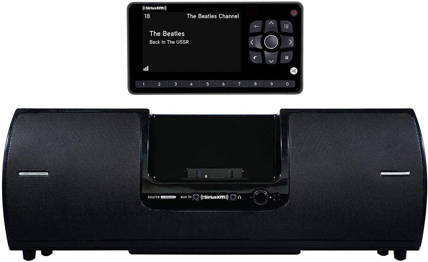 SiriusXM SXSD2 Portable Speaker Dock Audio System & SiriusXM SXEZR1V1 Onyx EZR Satellite Radio with Vehicle Kit with Get 3 Free Months Service with Subscription (Bundle)