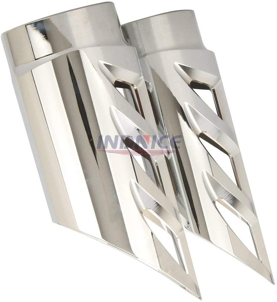 INDNICE Chrome upper fork silder cover for Road King Classic FLHRC 07-13 Tri Glide Ultra FLHTCUTG 2014-2019