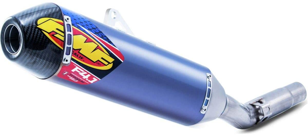 FMF Factory 4.1 RCT Slip-On Exhaust (Titanium Anodized with Carbon Fiber Cap) for 19-20 Suzuki RMZ250