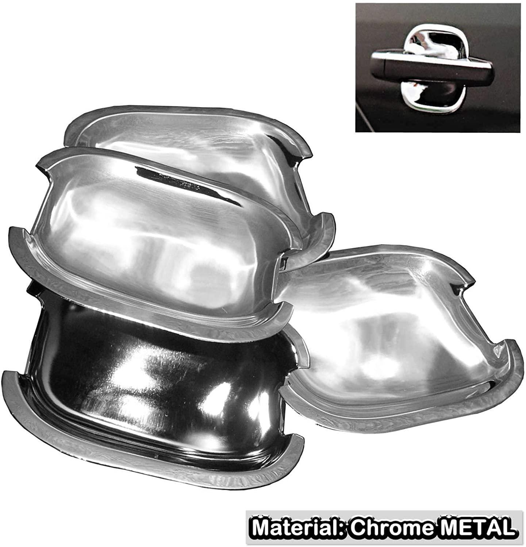 SAISDON- For Toyota Camry Corolla Rav4 Matrix Scion Yaris Chrome Door Handle Shell Cup Trim Steel Stainless Metal [1 Set of 4 Pieces]#1978