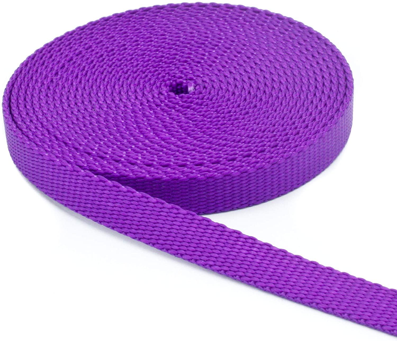 1/2 Inch Width Nylon Webbing - Medium Weight : 10 Yards 1/2
