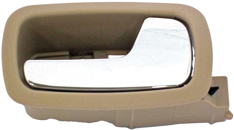 Dorman 81855 Front Passenger Side Interior Door Handle for Select Chevrolet/Pontiac Models, Beige and Chrome