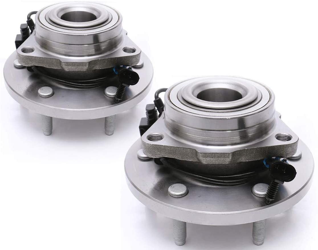 FKG 515093 Front Wheel Bearing Hub Assembly fit for 2006-2009 Hummer H3, 6 Lugs W/ABS Set of 2