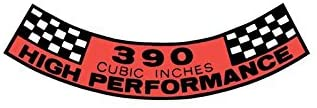 MACs Auto Parts 44-47195 Mustang Air Cleaner Decal, 390 High Performance