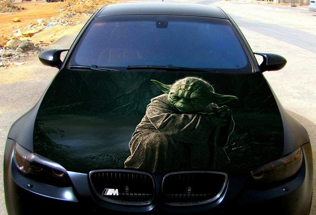 Stikka Vinyl Car Hood Wrap Full Color Graphics Decal Master Yoda Star Wars Sticker 54