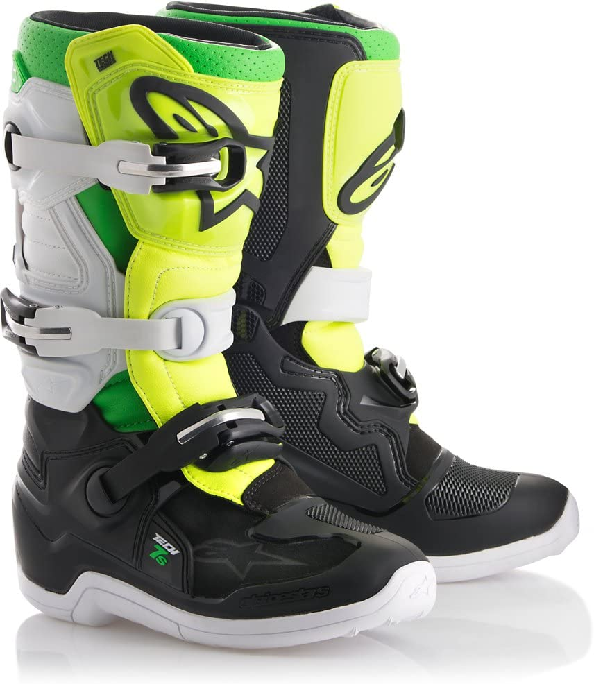 Alpinestars Tech 7S Prodigy Youth Motocross Off-Road Motorcycle Boots, Size 8