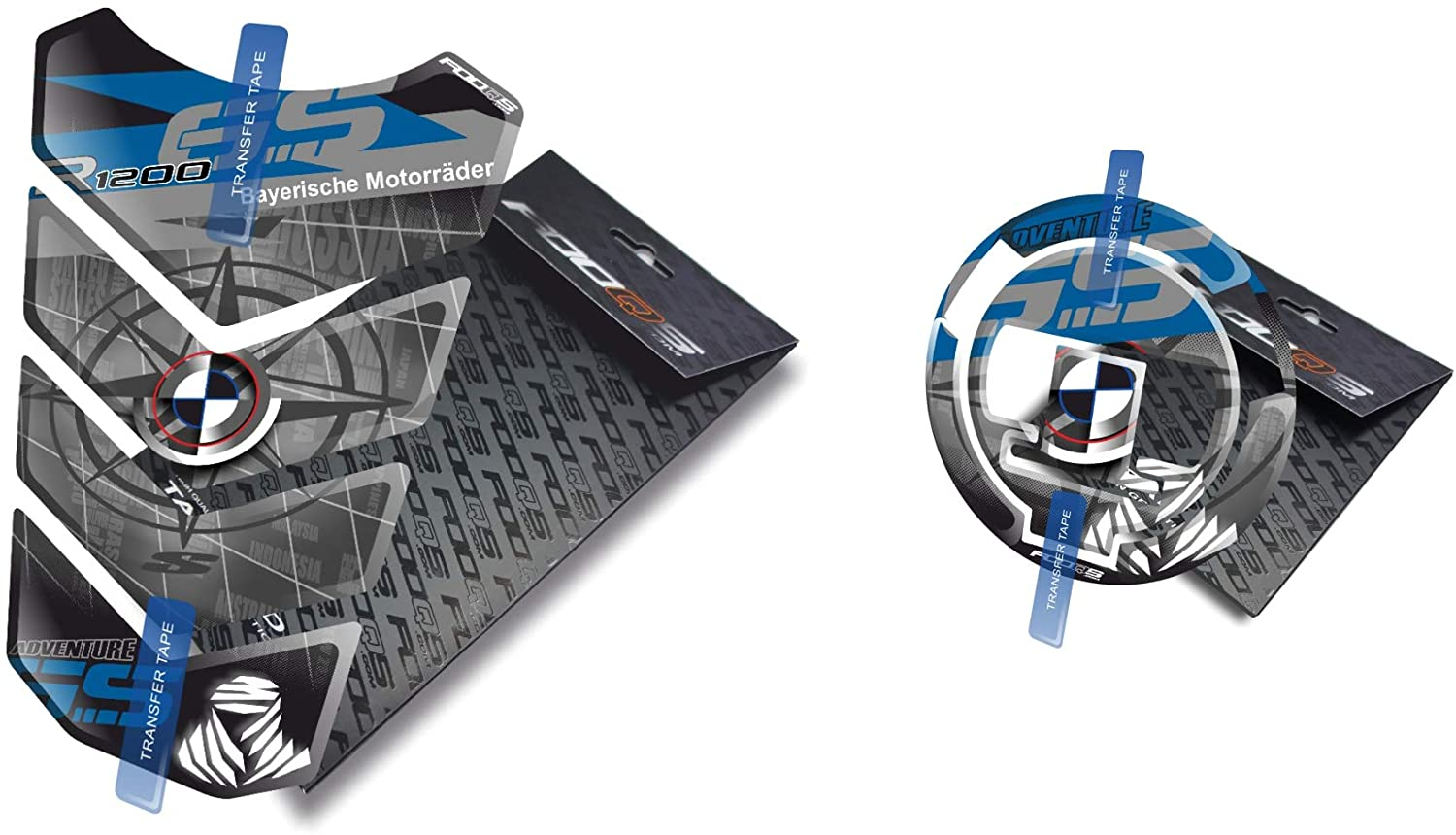 Tankpad and Cappad for R 1200 GS Adv Adventure (Blue)