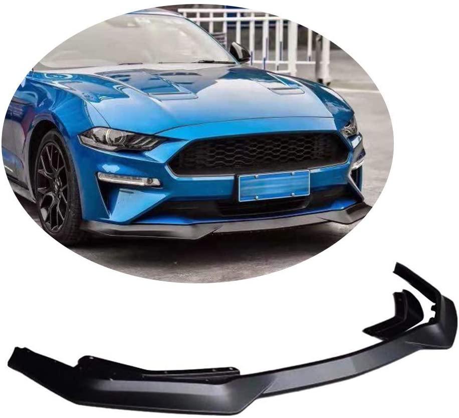 XTT Front Bumper Lip fits Ford Mustang GT Coupe Convertible 2018-2020 Matt Black Polypropylene PP Chin Spoiler Splitter Protector