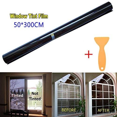 DishyKooker 20% VLT Black Pro Car Home Glass Window Tint Tinting Film Roll 50cmx3m 50300cm Motorcycle Car
