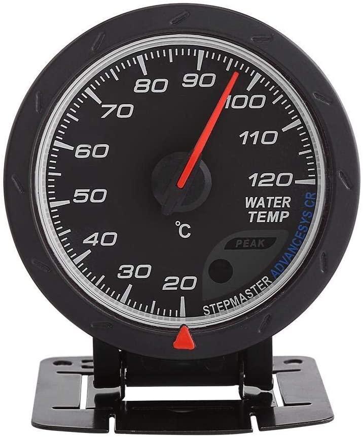 Enrilior Universal Digital Blue LED Water Temp Temperature Gauge 20-120℃ Range Meter for Auto Racing Car