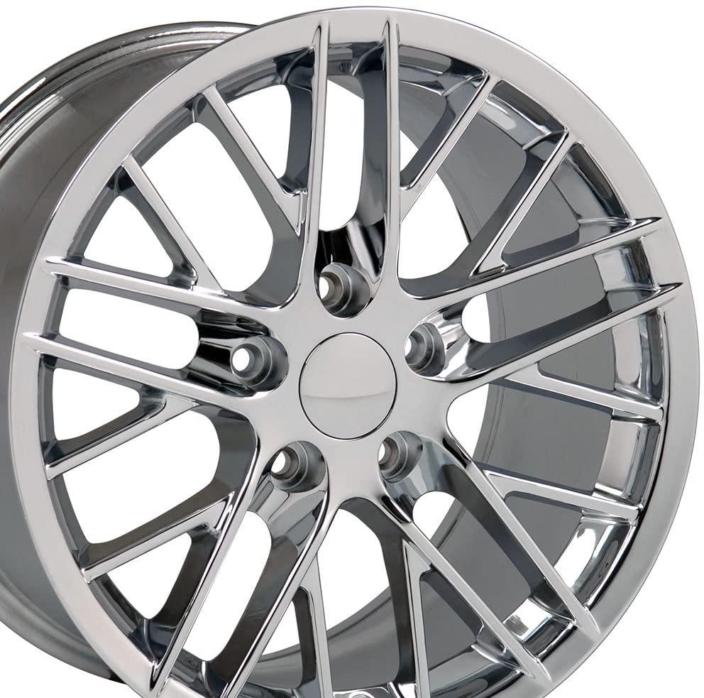 OE Wheels LLC 17 Inch Fit Corvette Camaro C6 ZR1 Style Chrome 17x9.5 Rims SET
