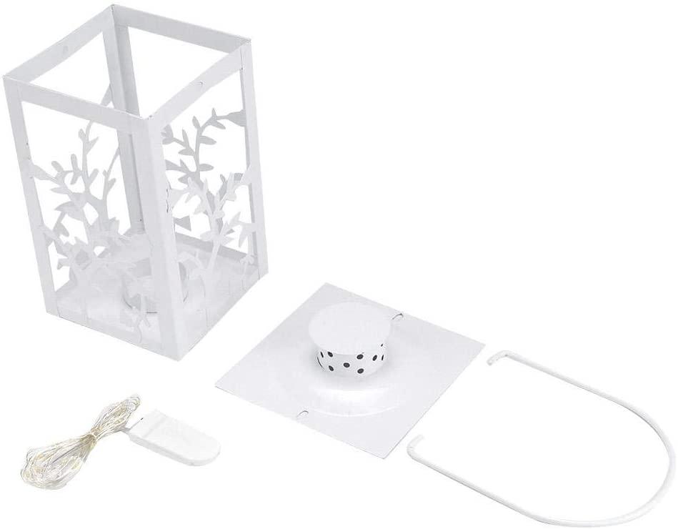 Solar Power Light, Retro Style Iron LED Candlestick Light Warm Lamp String for Home Bedroom Living Room