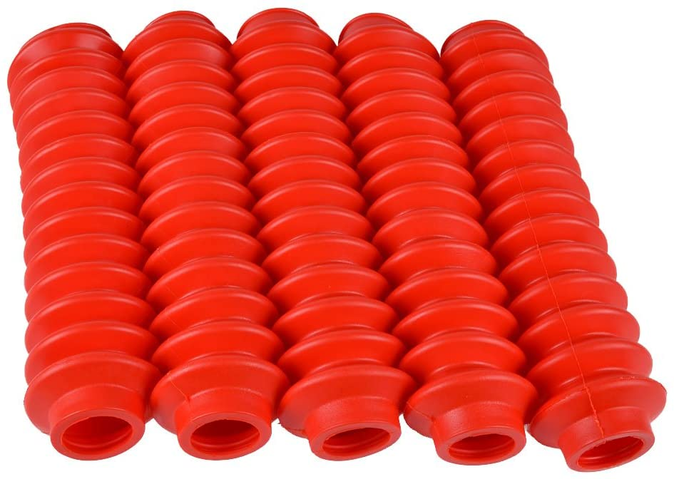 5 Shock Boots RED Fits Most Aftermarket Shocks fits Jeep Cherokee XJ 1984-2001