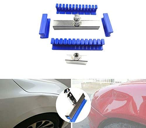 Amena Paintless Glue Puller Tabs Auto Car Paintless Dent Repair Removal Tool Kit Nylon Auto Body Dents Removal Pulling Tabs Kit 6Pcs Adhesive Blue Glue Tabs Auto Dent Removal Tools Dent Repair Tools