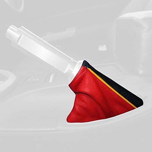 RedlineGoods ebrake Boot Compatible with Nissan 370Z 2009-20. Black Alcantara-Blue Thread