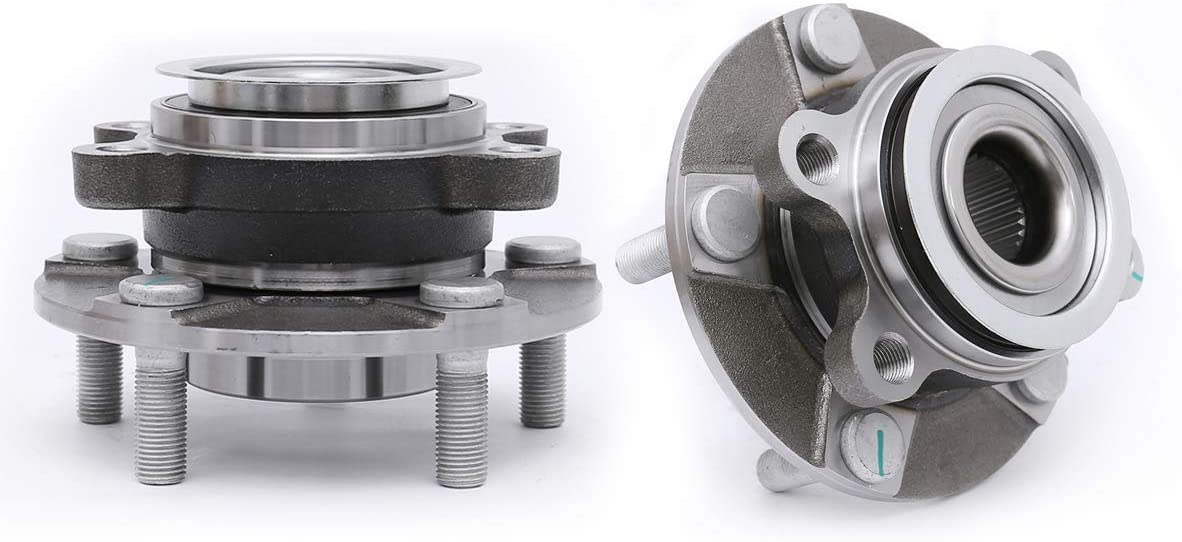FKG 513298 Front Wheel Bearing Hub Assembly For 2008-2013 Nissan Rogue, 2014 Nissan Rogue Select, 2007-2012 Nissan Sentra 2.5L 4Cyl L, 5 Lugs Set of 2