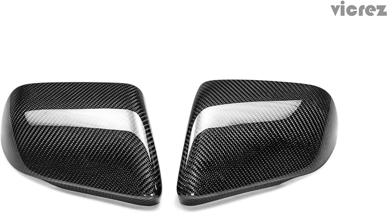 Vicrez OEM Carbon Fiber Mirror Cover vz100459 for Ford Mustang 2015-2017